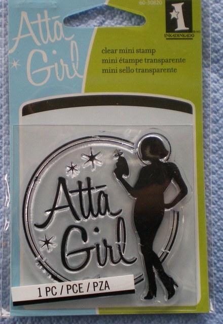 Inkadinkado Mini Clear Stamp - Atta Girl