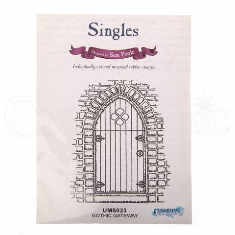 Rubber Cling Stamp - Gothic Gateway