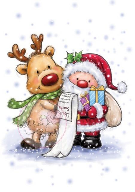 Santa & Rudolph Clear Stamp