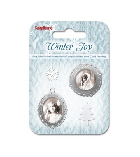 Winter Joy - Set of Metal Embellishments - 4 pieces