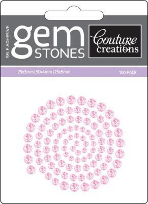 Pink Flamingo - Self Adhesive Gemstones x 100