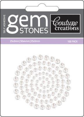 Crystal - Self Adhesive Gemstones x 100