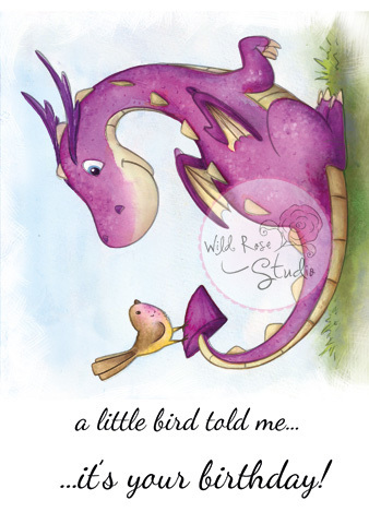 Dragon and Bird stamp