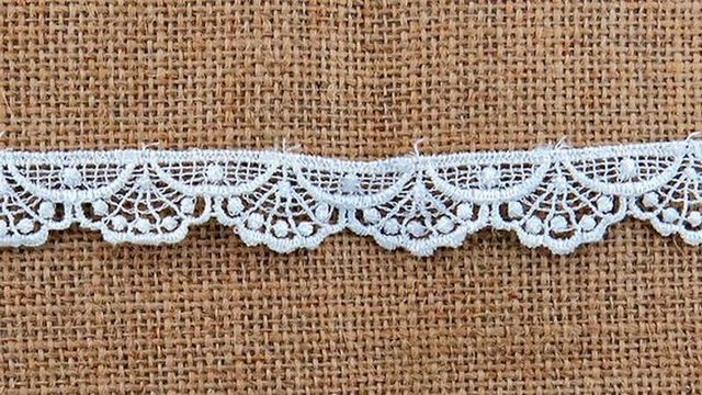 White Loopy Scallops Lace