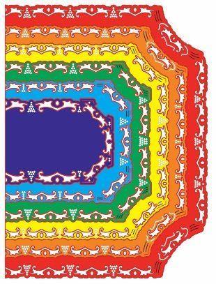 Reflections - Royal Coved Rectangle Mega Doily