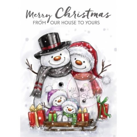 Snowman Family Clear Stamp