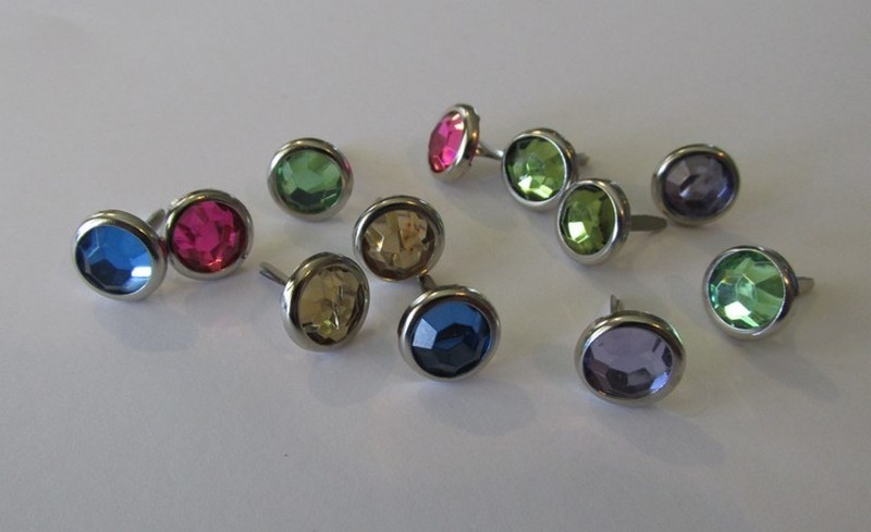 10mm Mixed Silver Edge