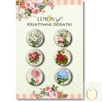 Vintage Flowers Buttons