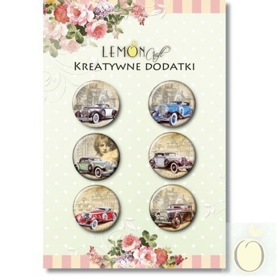 Vintage Cars Buttons