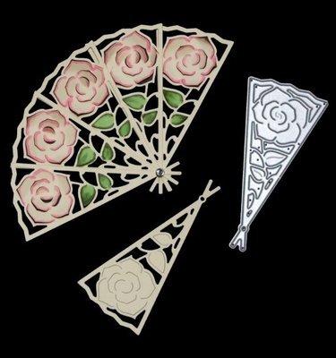 Large Rose Fan