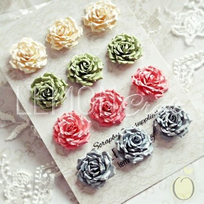 Heart Painted Paper Roses