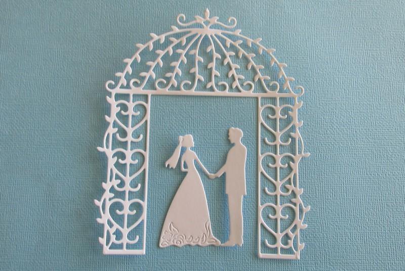 Garden Wedding Arch with Bride & Groom die set