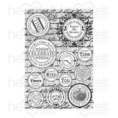 Time Sentiments Cling Stamp set