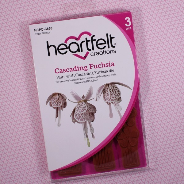 Cascading Fuchsia Cling Stamp set