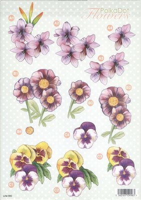 3D Precut  Flower Sheets -  Click to Select