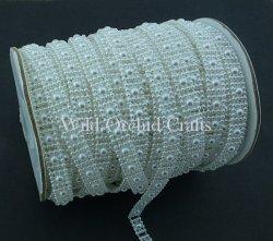 Flat Back White  Pearl Trim - 10mm