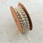 Flat Back Ivory Pearl String - 4mm