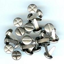Screw Brads - silver