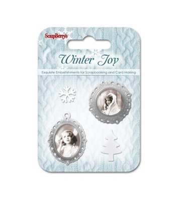 Winter Joy - Set of Metal Embellishments - 4 pieces