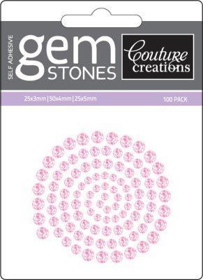 Pink Flamingo - Self Adhesive Gemstones x 100