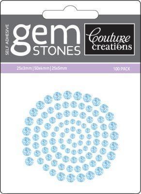 Blue Iceberg - Self Adhesive Gemstones x 100