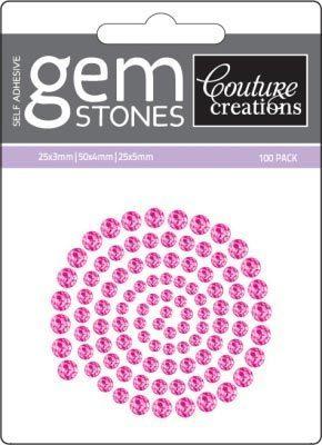 Pink Diva - Self Adhesive Gemstones x 100