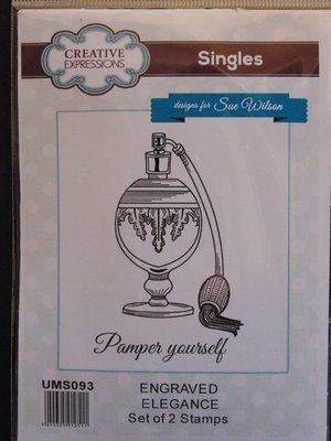 Rubber Cling Stamp - Engraved Elegance