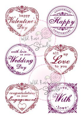 Romantic Greetings Clear Stamp Set