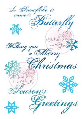 Swirly Greetings Clear Stamp