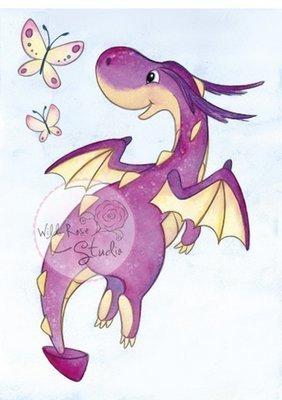 Dragon Flying stamp