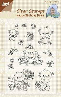 Happy Birthday Bear Clear Stamps