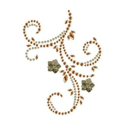 Prima - Say It In Pearls & Crystals Collection  - Flourish & Flowers - Brown