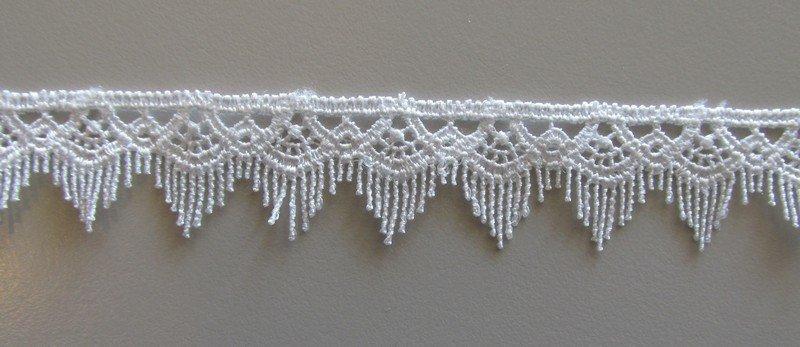 Fringe Lace - White