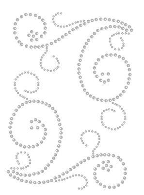 Want to Scrap Swirls - White Pearl