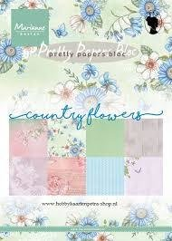 Country Flowers - Pretty Papers Bloc