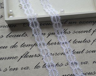 White Chiffon Bilateral Lace
