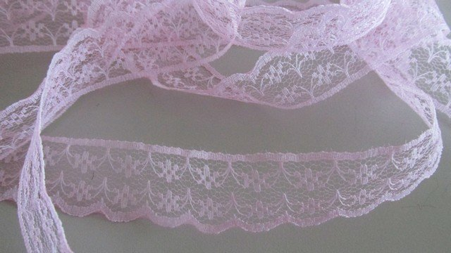 Pink Floral Scallop Lace