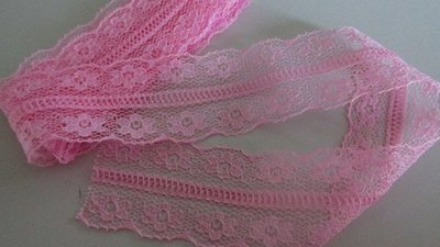Pink Floral Bilateral Lace
