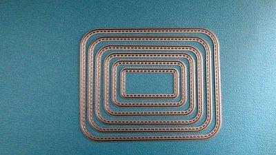 Stitched Round Rectangle die set