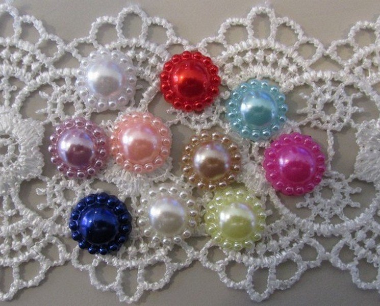 Flat Back Pearl Beads - Click to Select