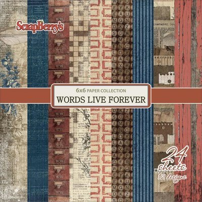 WORDS LIVE FOREVER 6x6 paper pack