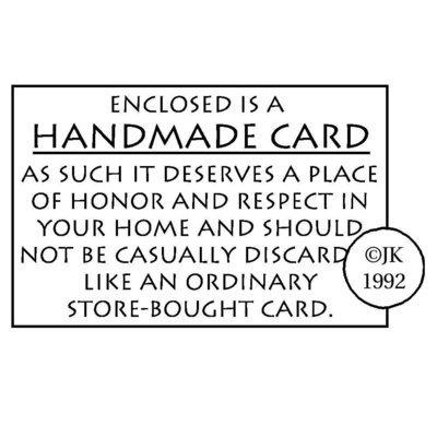 Judikins Rubber Stamp - HANDMADE CARD