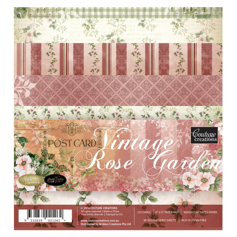 Vintage Rose Garden 12x12 & 6x6 Paper Collection