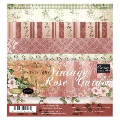 Vintage Rose Garden 12x12 & 6x6 Paper Collection