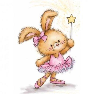 Bunny Ballerina Clear Stamp