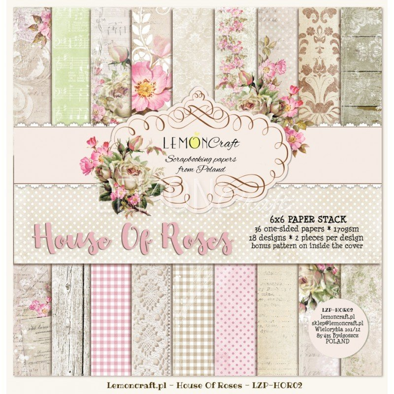 House of Roses 6x6 Paper Set