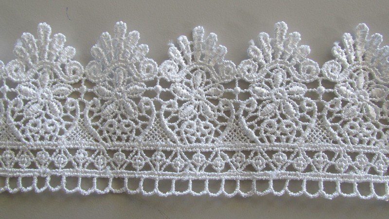Scallop Loop Lace - white