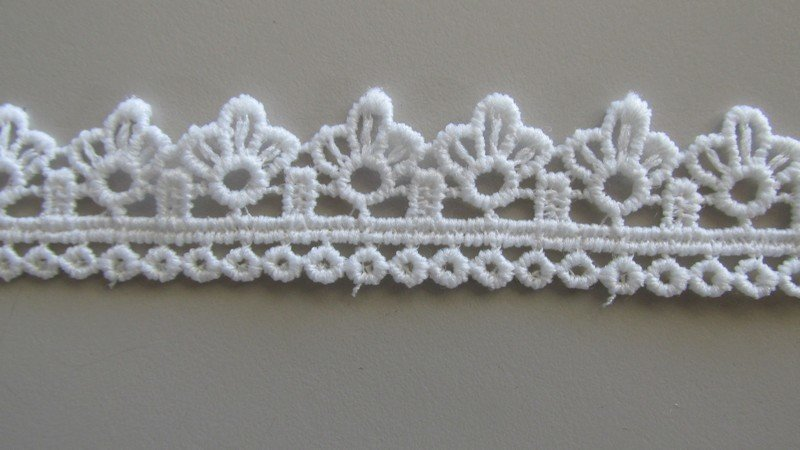 Barcode Lace - white