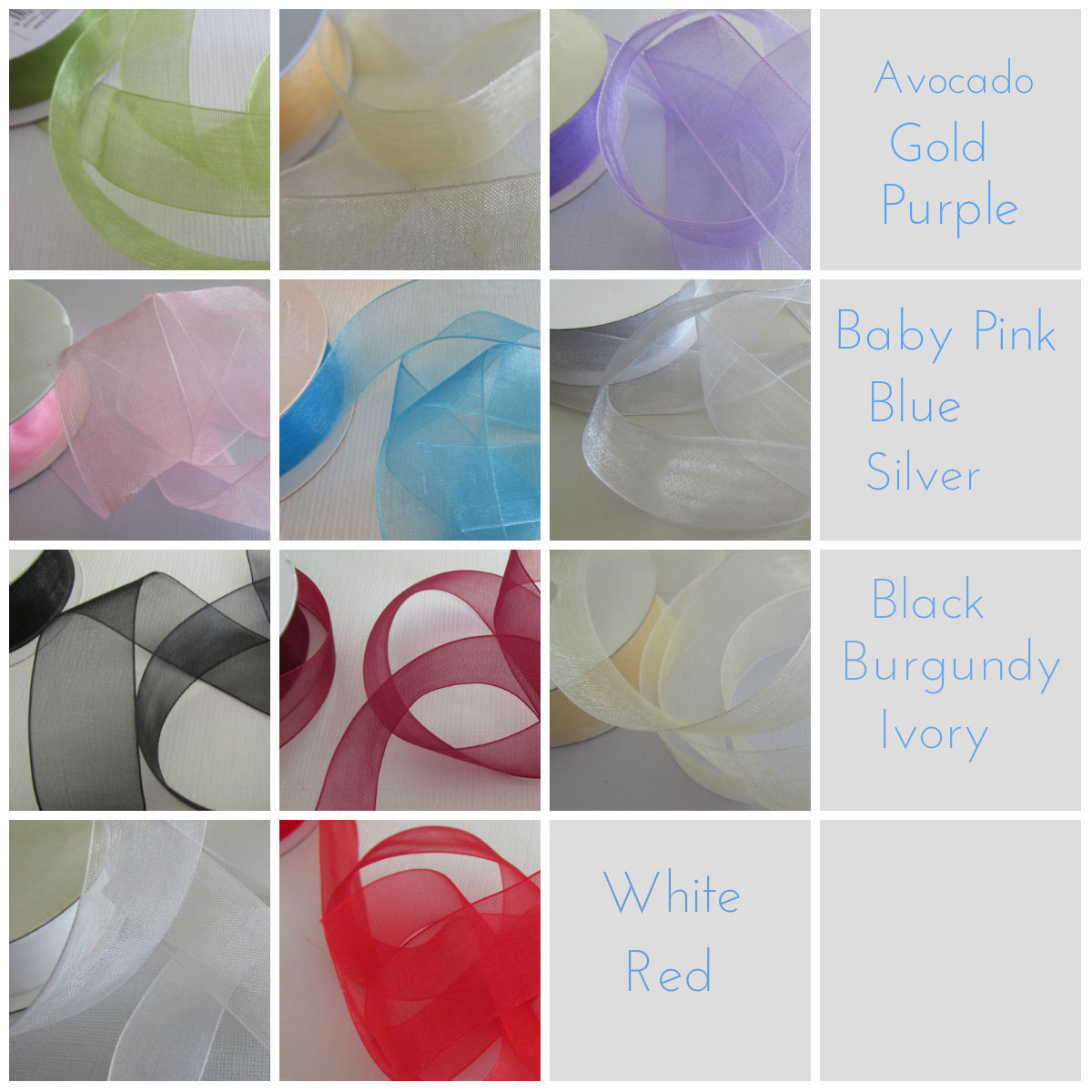 Organza Ribbon - Click to Select