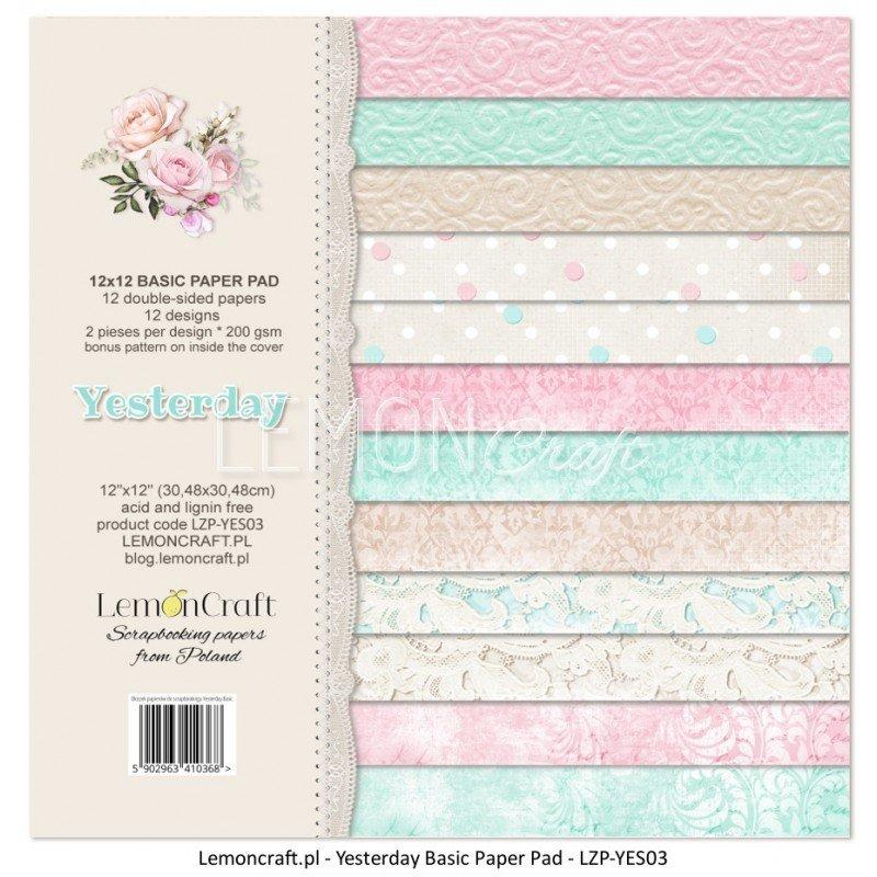 Yesterday 12X12 Basic Paper Stack